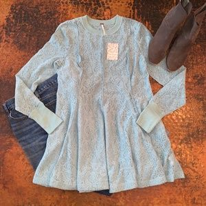 NWT Free People Coffee in Morning Tunic Pullover L